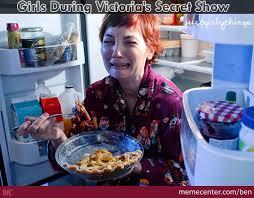 Victoria Meme - girls during victoria s secret show by ben meme center