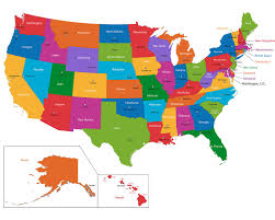 Map Of The United States Of America With State Names by Maps Of 50 States Usa Abbreviations Us State Names Inside The