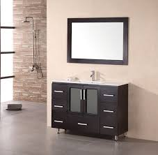 48 inch modern bathroom vanity white porcelain sink countertop