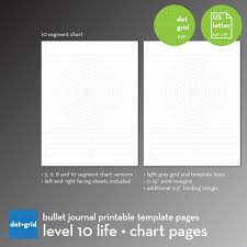 grid layout for 8 5 x 11 level 10 life chart layout set bullet journal printable template