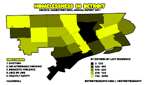 Detroit Zip Code Map Map Homelessness In Detroit 2011 Detroitography