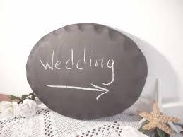 wedding chalkboard sign wall hanging blackboard plaque oval