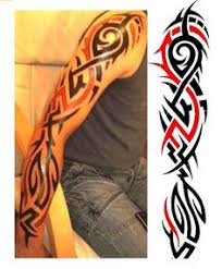 colored tribal eagle on right half sleeve colorful tribal