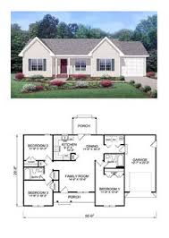 Floor Plans For Small Houses With 3 Bedrooms Cottage Style Cool House Plan Id Chp 28554 Total Living Area