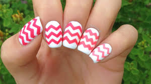 diy chevron nails 4 ways a 5th way in the description youtube