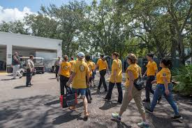 Flag Clearwater Volunteers Assist In Morton Plant Hospital Cleanup Post Hurricane Irma