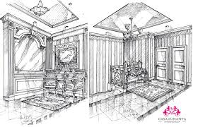Interior Decoration Sketches Perspective Drawings With Decoration Interior Design Drawings
