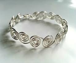 diy metal bracelet images Diy swirly wire bracelet jpg
