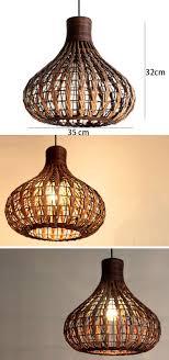 Lighting Fixtures Wholesale Southeast Asia Rattan Garlic Dining Room Ceiling Pendant Lights
