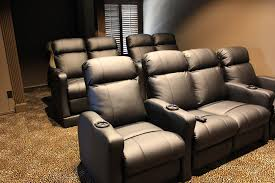 in home theater seating row one theatre chairs mccabe u0027s theater and living