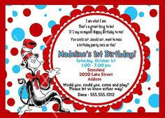 dr seuss birthday invitations dr suess maybe it can be next years party dr seuss party
