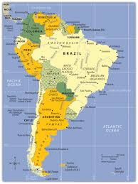 Latin America Map Countries south america