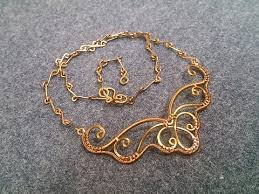 necklace wire images Wire necklace inspired by butterfly wings how to make wire jpg