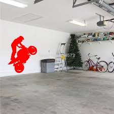 Bicycle Home Decor by Ome Decor Wall Sticker Superbike Wheelie Motorbike Stunt Wall