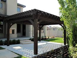 Pergola Designs For Patios by Plan For An Easy 16 U0027 X 20 U0027 Diy Solid Wood Pergola Or Pavilion