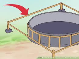 how to build a deck around an above ground pool with pictures