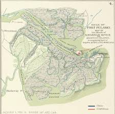 Savannah Map Savannah In The Civil War 1861 1862