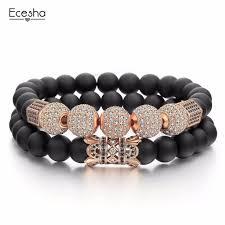 luxury bead bracelet images Ecesha luxury zircon ball women 39 s bracelet set charm beads jpg