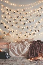 diy photo wall string lights