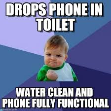 Drop Phone Meme - drops phone in toilet success kid meme on memegen