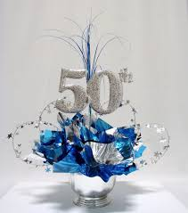 25th Wedding Anniversary Table Centerpieces by 50th Milestone Centerpiece