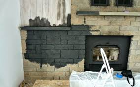 craig painted stone fireplace stovers