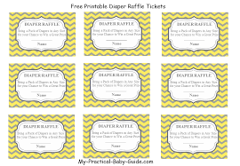 free printable diaper raffle tickets practical baby shower guide