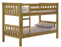Bunk Beds The Ft   Ft Dubai Pine Bunk Bed Also In White Pine - Short length bunk beds