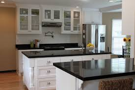 Kitchen White Cabinets Black Countertops Off White Kitchen Cabinets With Grey Countertop Home Design Ideas