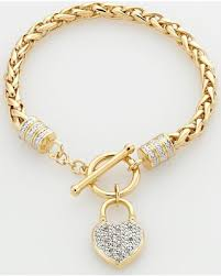 gold chain bracelet with charm images Don 39 t miss this deal on elegante 18k gold over brass two tone