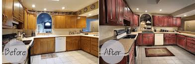 Kitchen Cabinets Refinished Cabinets Refacing Before And After And The Cost