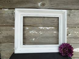 hand painted 9 x 8 open wood frame with 8 x 7 opening distressed