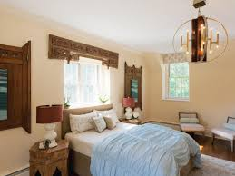 window white ceiling design with window coverings and bedding