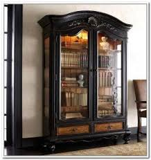 Vintage Bookcase With Glass Doors Glass Doors Bookcase Foter