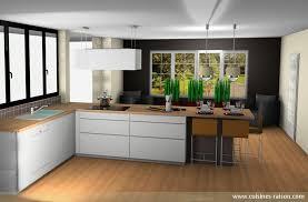 cuisines raison amenagement cuisine salle a manger 3 cuisine en l stratifie clair