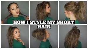 how i style my short hair long bob youtube