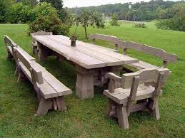 Rustic Patio Furniture by Remarkable Decoration Rustic Outdoor Dining Table Nobby Design Diy
