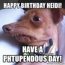 Heidi Meme - birthday heidi