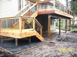 Covered Deck Ideas Second Story Deck Privacy Ideas Second Floor Covered Deck Photo