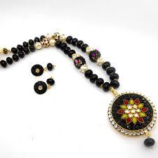 beads necklace designs images Designer jaipuri crystal pendant necklace design buy crystal jpg