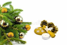 new year theme christmas tree golden balls decorations candle
