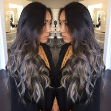houston texas salons that specialize in enhancing gray hair silver hair grey hair balayage ombré sombre blue grey
