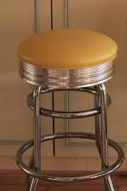 american diner bar stools 2 american diner retro jerry s home store yellow and chrome bar