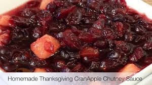 thanksgiving cranberry homemade cranberry apple chutney sauce