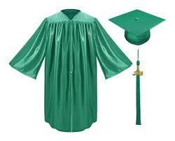 green cap and gown emerald green child graduation cap gown tassel kindergarten