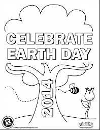 terrific sunday creation coloring page with earth day