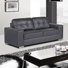 slate grey leather sofa collection with tufted seats and cushions