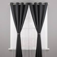 pair of grommet curtains or wide drapery panels window treatment