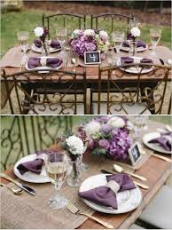 Vintage Centerpieces For Weddings by Shades Of Purple And Grey Wedding For Rustic Table Purple Plum