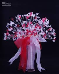 wedding flowers ni cheap acrylic wedding flowers bouquet white